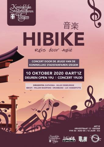 Flyer jeugdconcert : Hibike - Reis door Azië