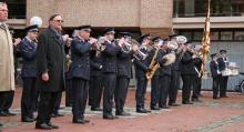 Koninklijke Stadsfanfaren op de herdenkingsplechtigheid van 11 november